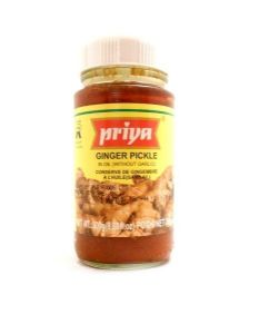 Priya Ginger Pickle [without garlic] | Buy Online at the Asian Cookshop